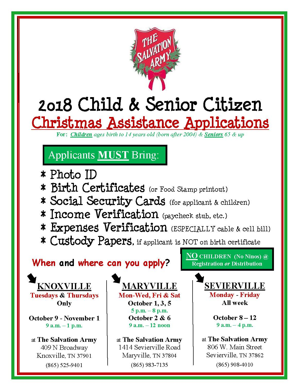 2018 angel tree registration flyer the salvation army of knoxville blog